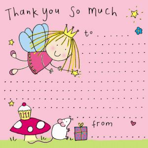 Fairy Princess Thank You Note
